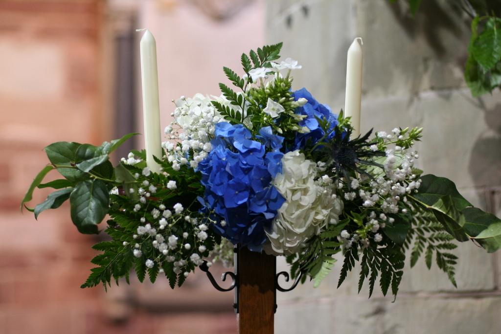 church candlestick flowers