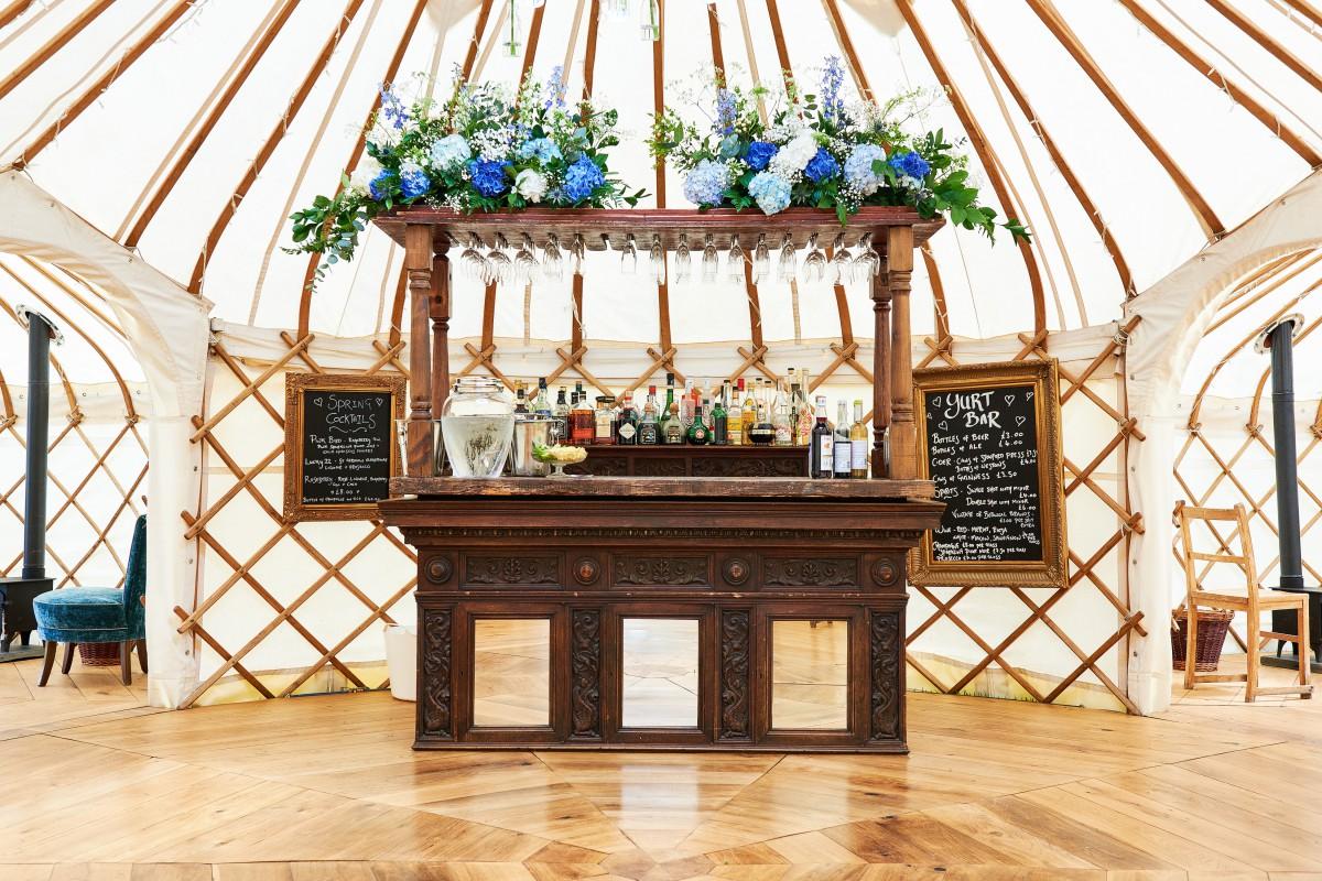 yurt wedding bar