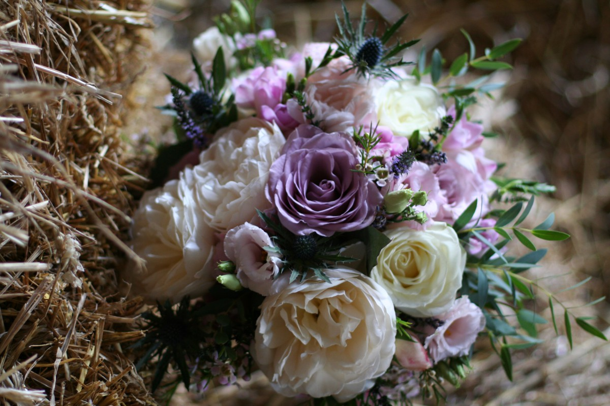 garden rose brides bouquet