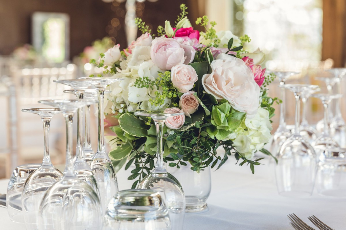 table arrangement at Elmore Court