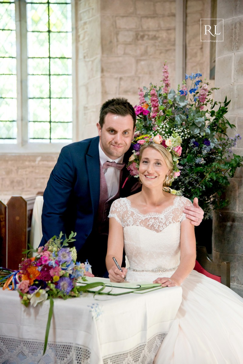 bright flowers for a colourful summer wedding at Homme House