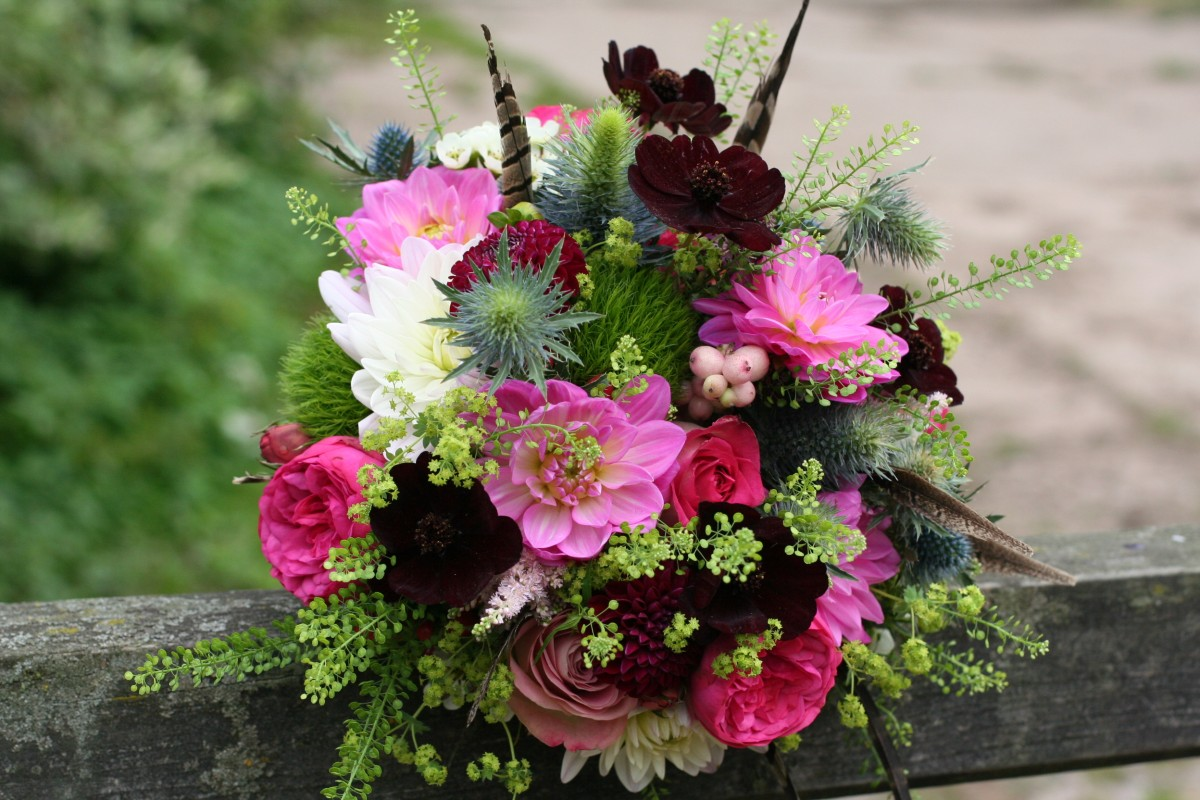 Bright Autumn brides bouquet
