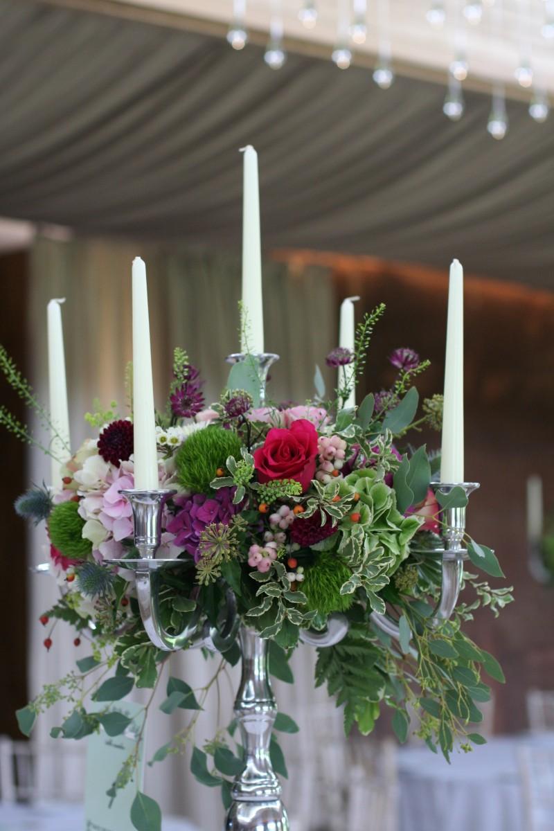 candelabra table centre by Jenny Fleur