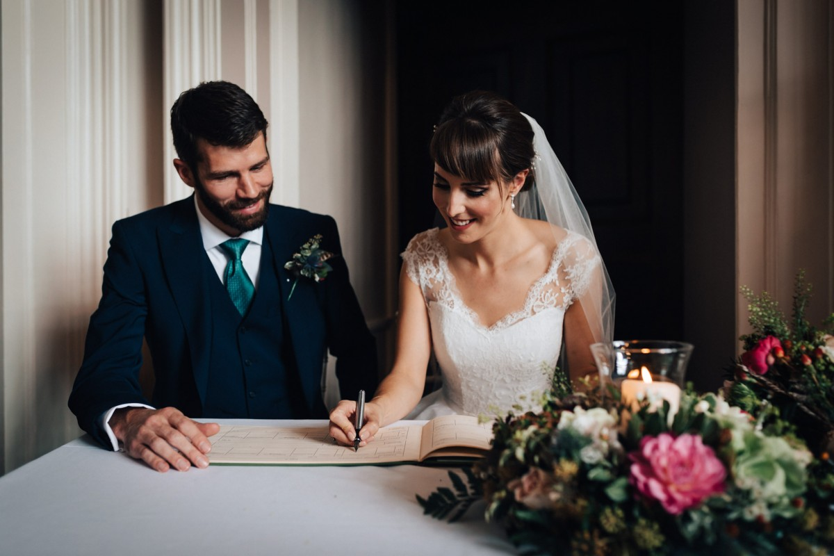 Autumn wedding at Elmore court