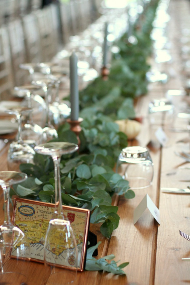 eucalyptus table garland