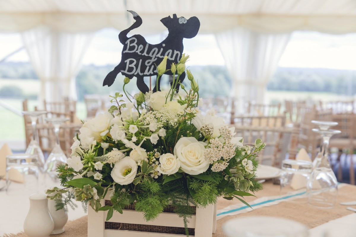 rustic wedding table centre