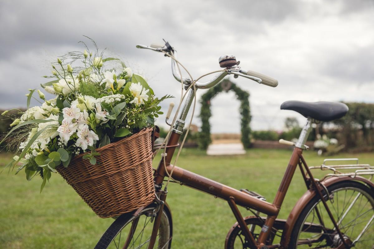 vintage bike rustic country wedding Gloucestershire