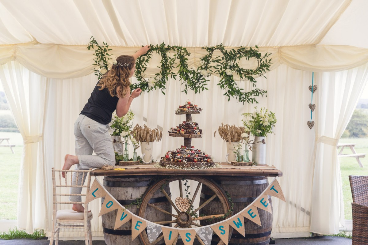 dessert station rustic country wedding