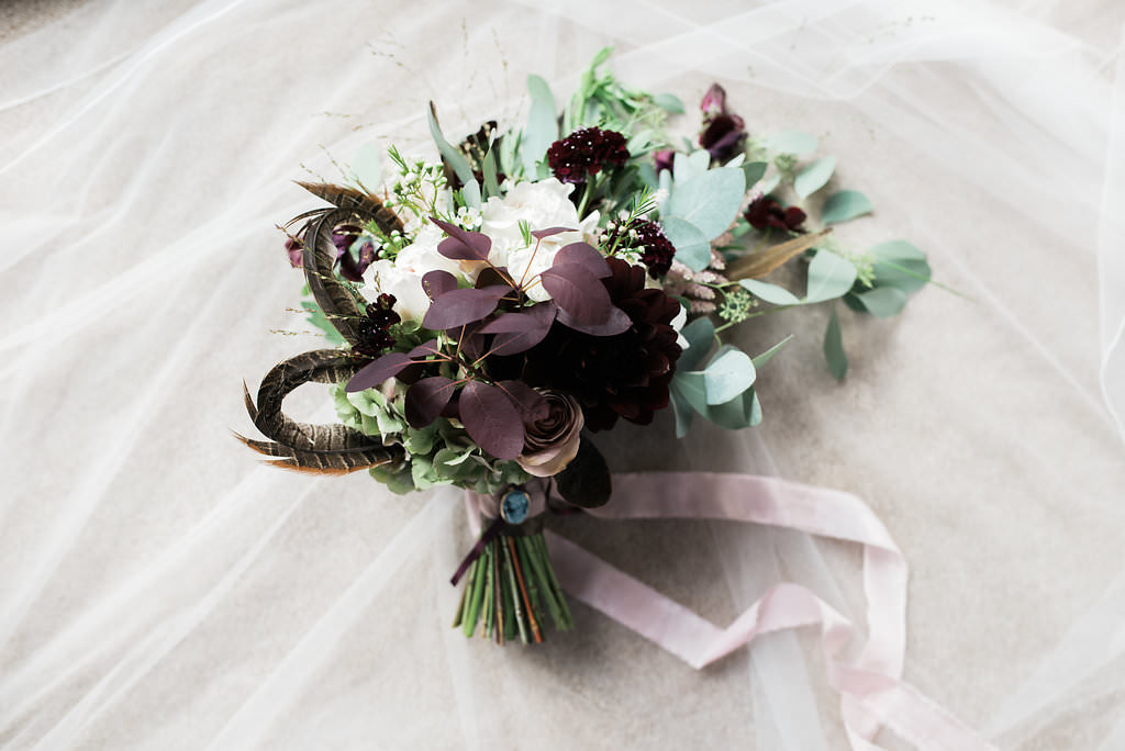 blush burgundy brides bouquet