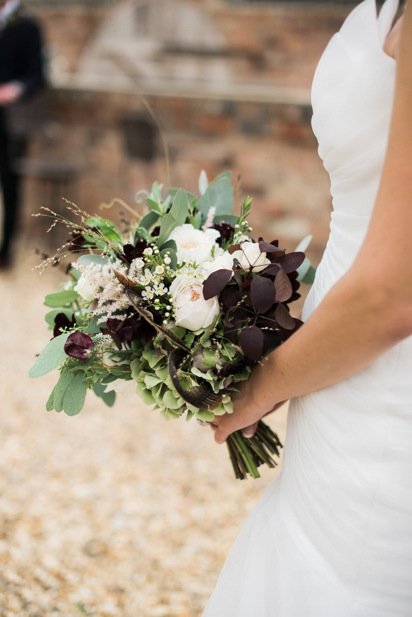 blush burgundy bride bouquet