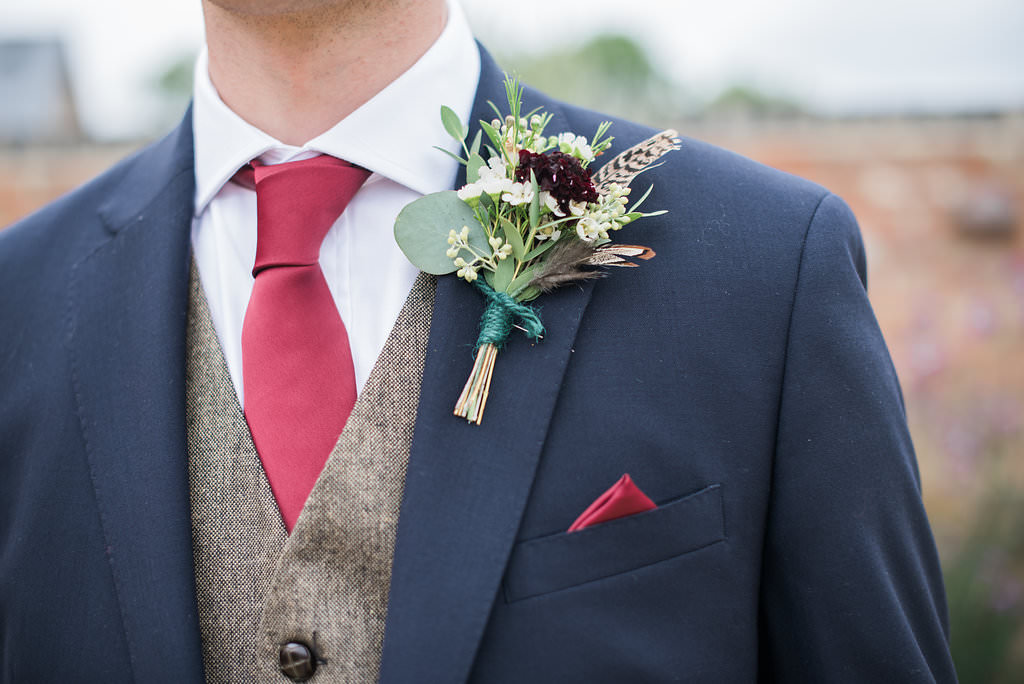 groom buttonhole Blackwell grange