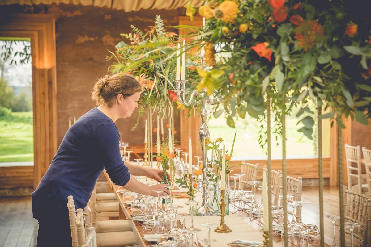 Jenny Fleur wedding flowers styling Elmore Court