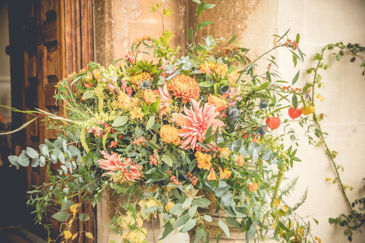 autumn urn arrangement Elmore Court