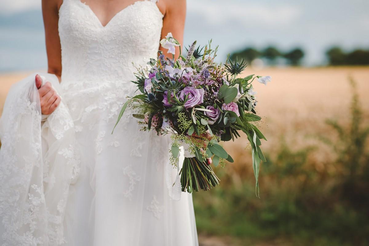 lilac wedding brides bouquet Jenny Fleur