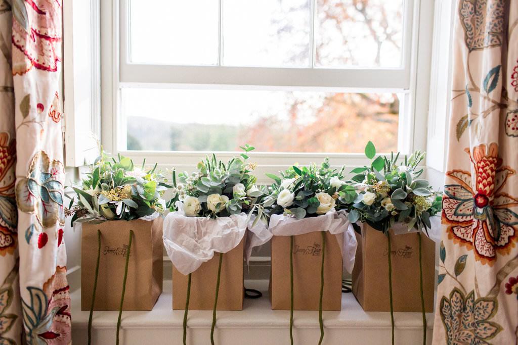 eucalyptus bridesmaids bouquets