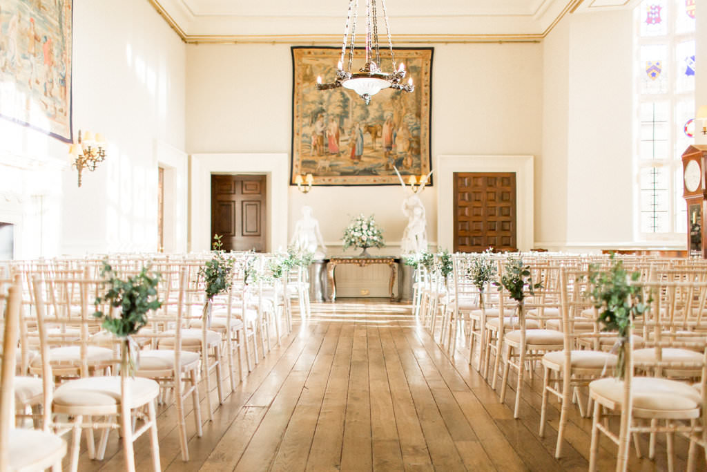 Winter wedding in the Great hall at Elmore Court