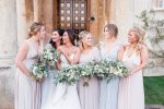 Eucalyptus wedding bride and bridesmaids bouquets