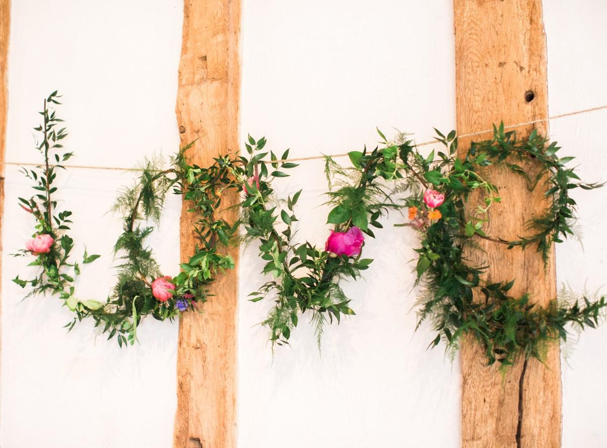 foliage LOVE letters