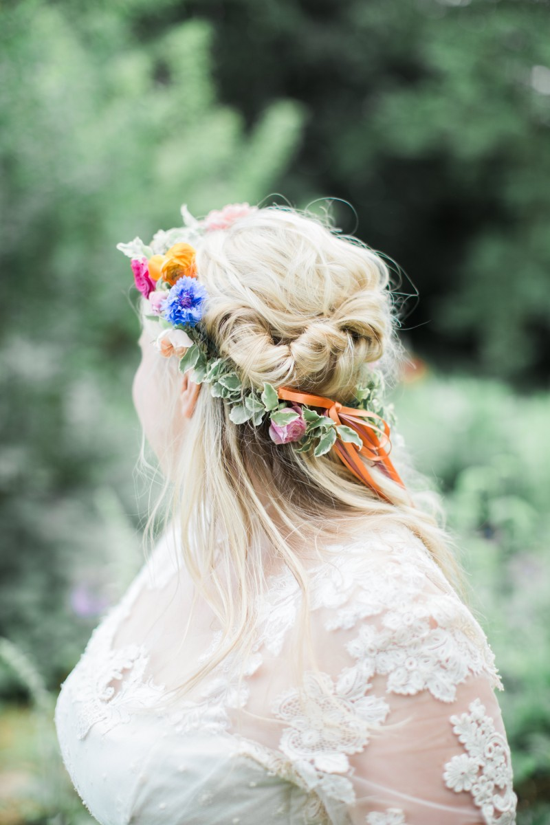 brides flower crown