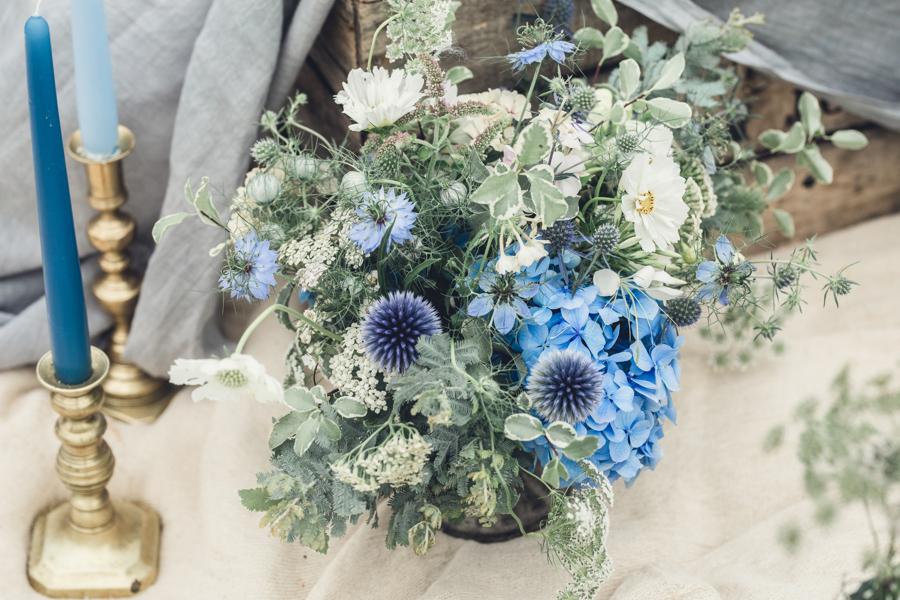 coastal inspired British Flowers by Jenny Fleur