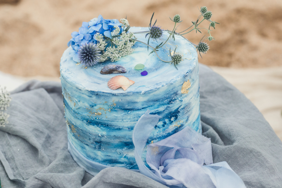 sea inspired wedding cake Cake Daydreams