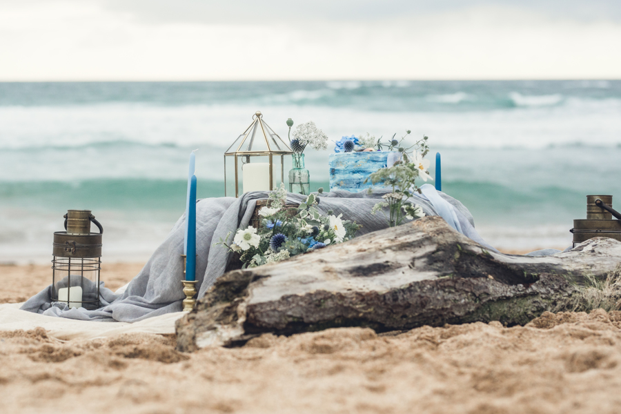 coastal wedding styling by Jenny Fleur Florist and Hannah Buckland Photography