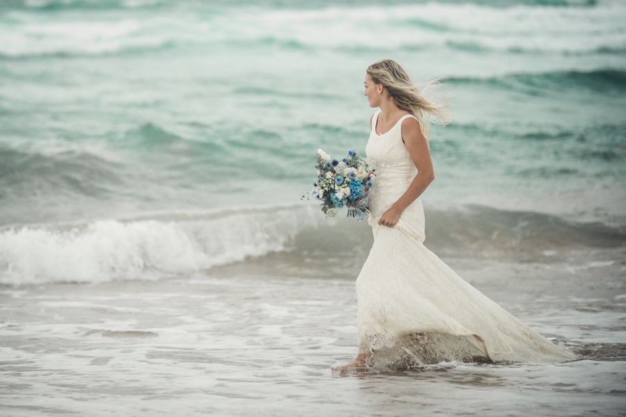 Cornish bride Constantine Bay