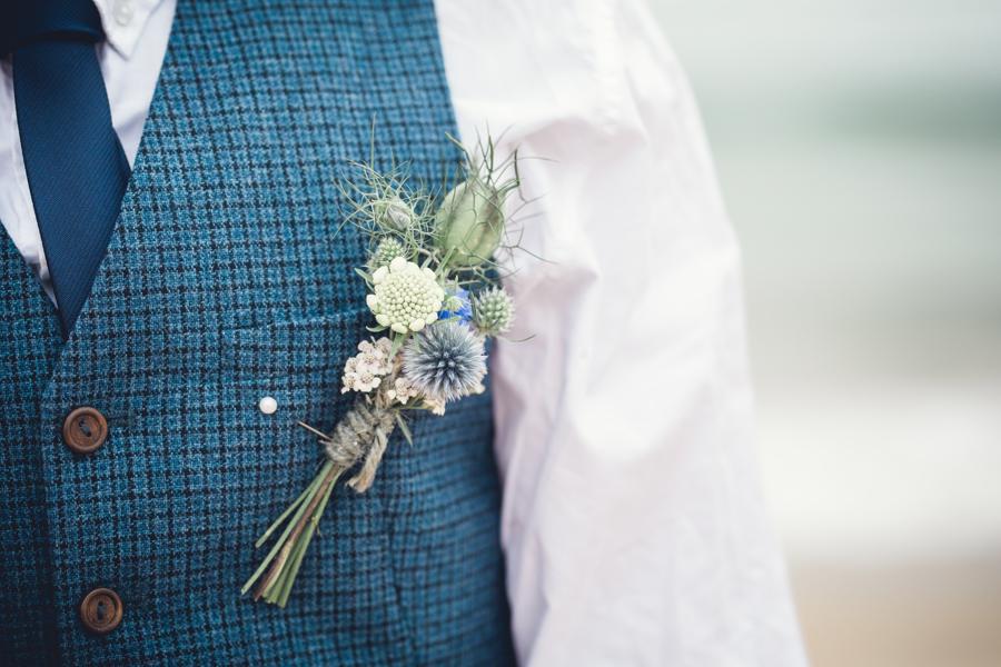 grooms buttonhole by Jenny Fleur florist