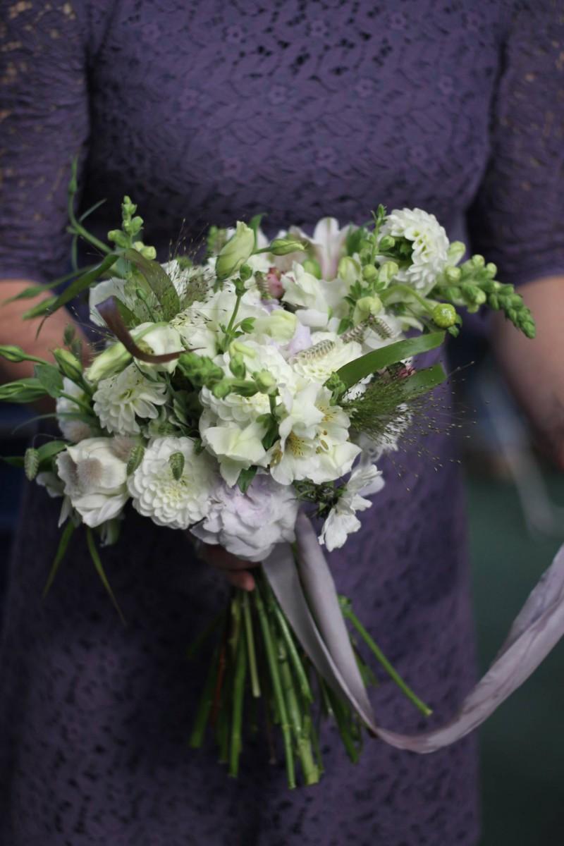 autumn bridal bouquet with British flowers