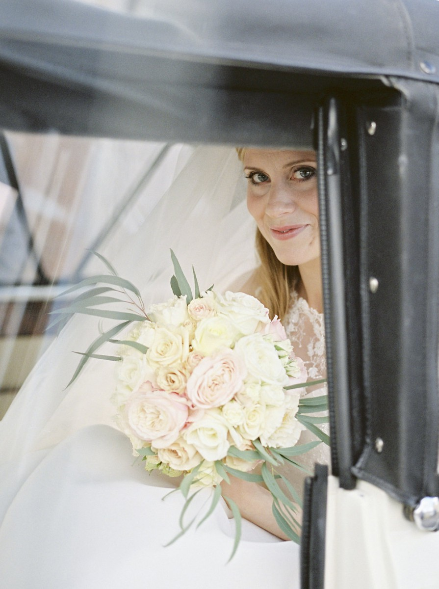 classic rose brides bouquet
