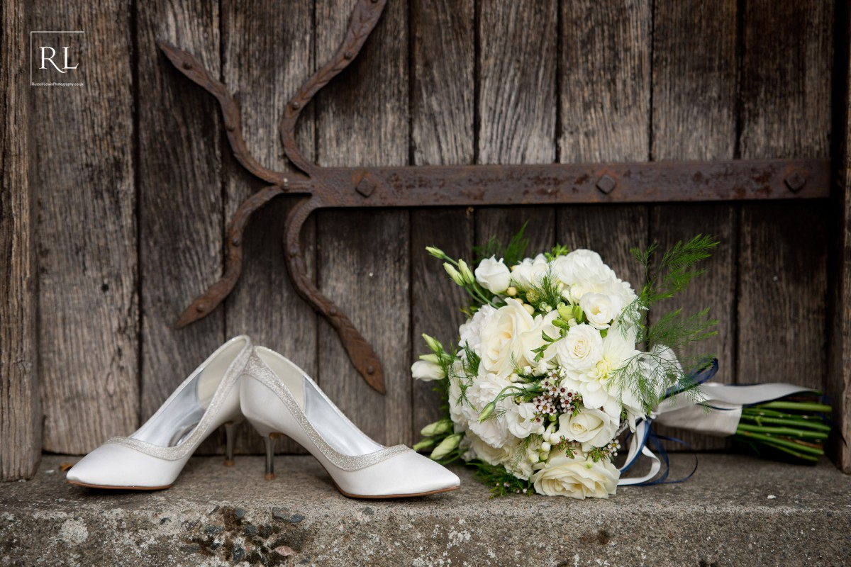 classic white and green brides bouquet