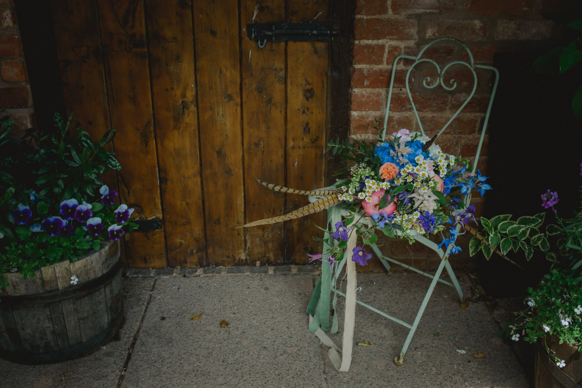 wedding flowers at the Curradine Barns