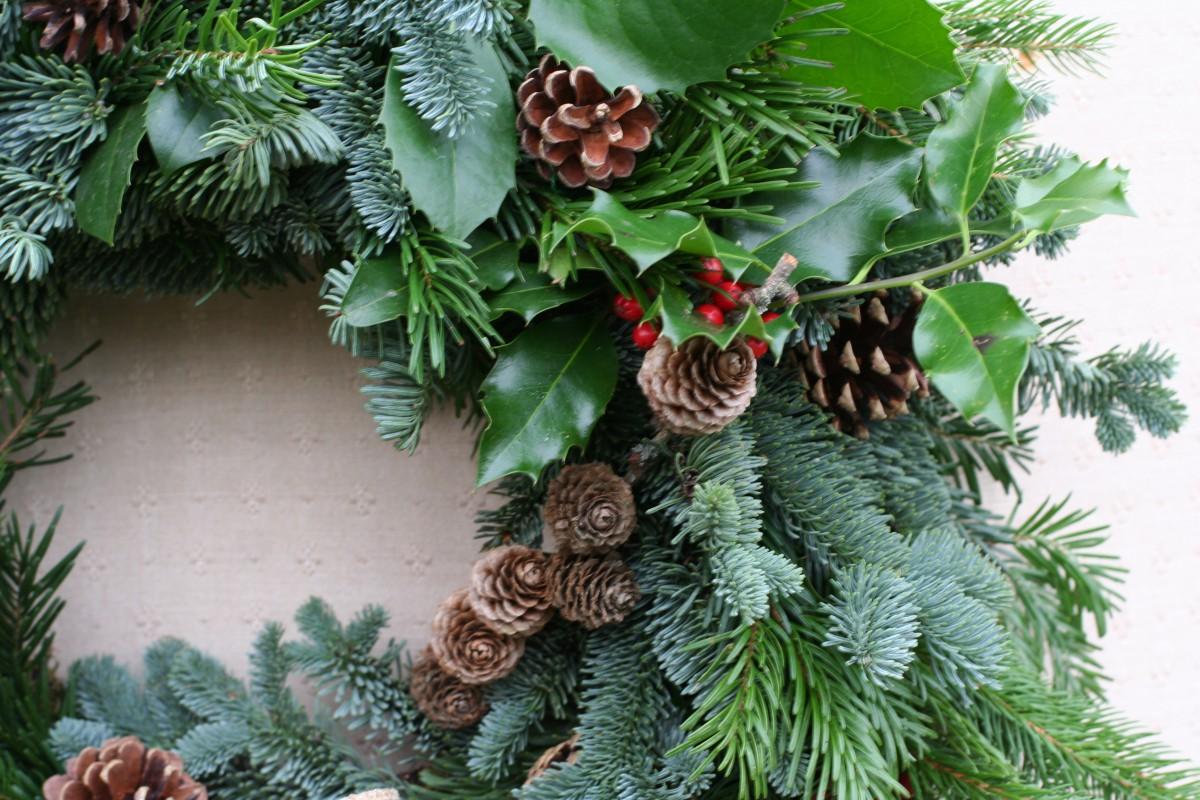 Christmas market wreath