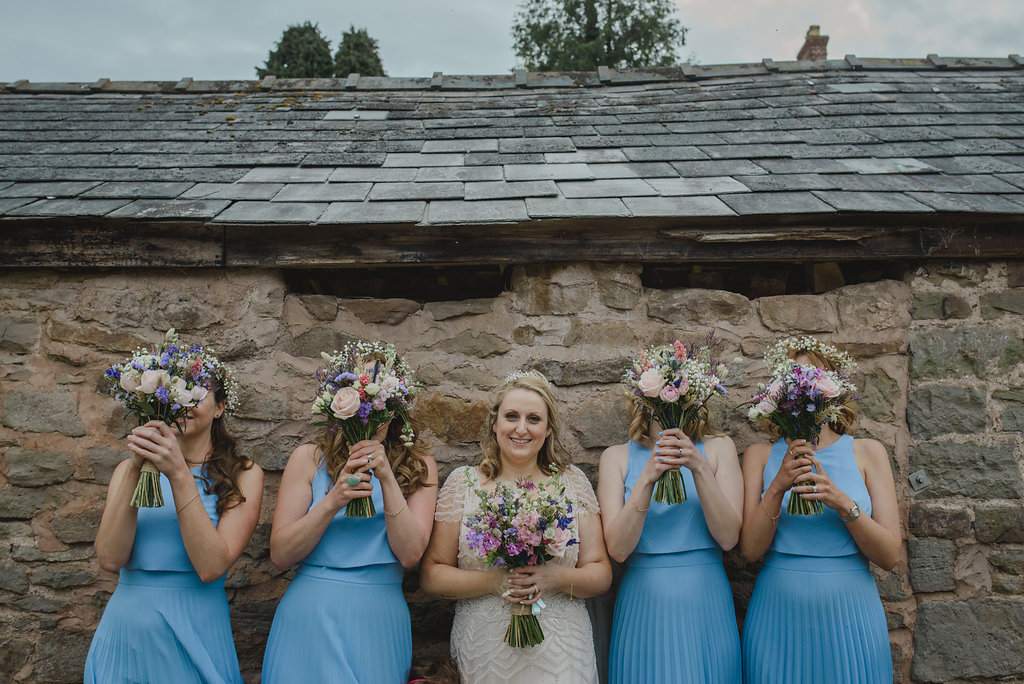 rustic wedding at Lyde Court