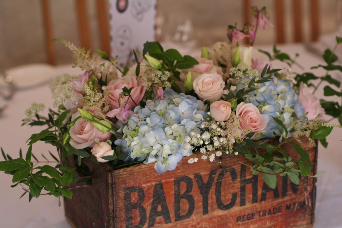 vintage babysham box table centre