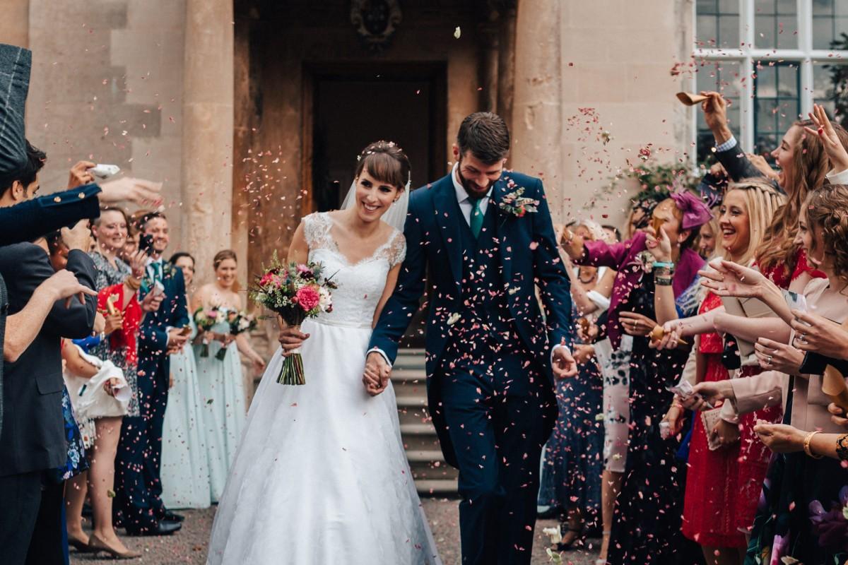 Autumn wedding flowers at Elmore Court