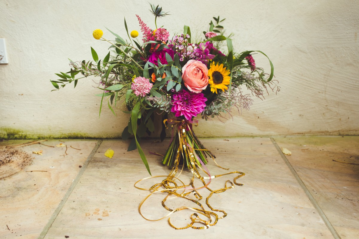 bright brides bouquet