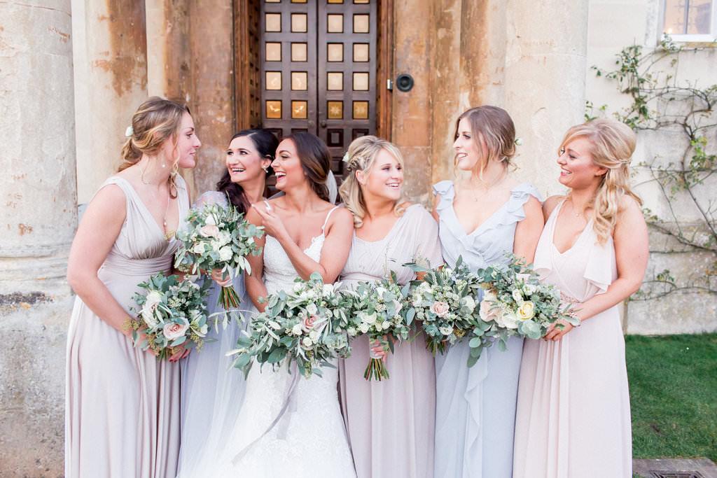 Eucalyptus wedding bride and bridesmaids bouquets